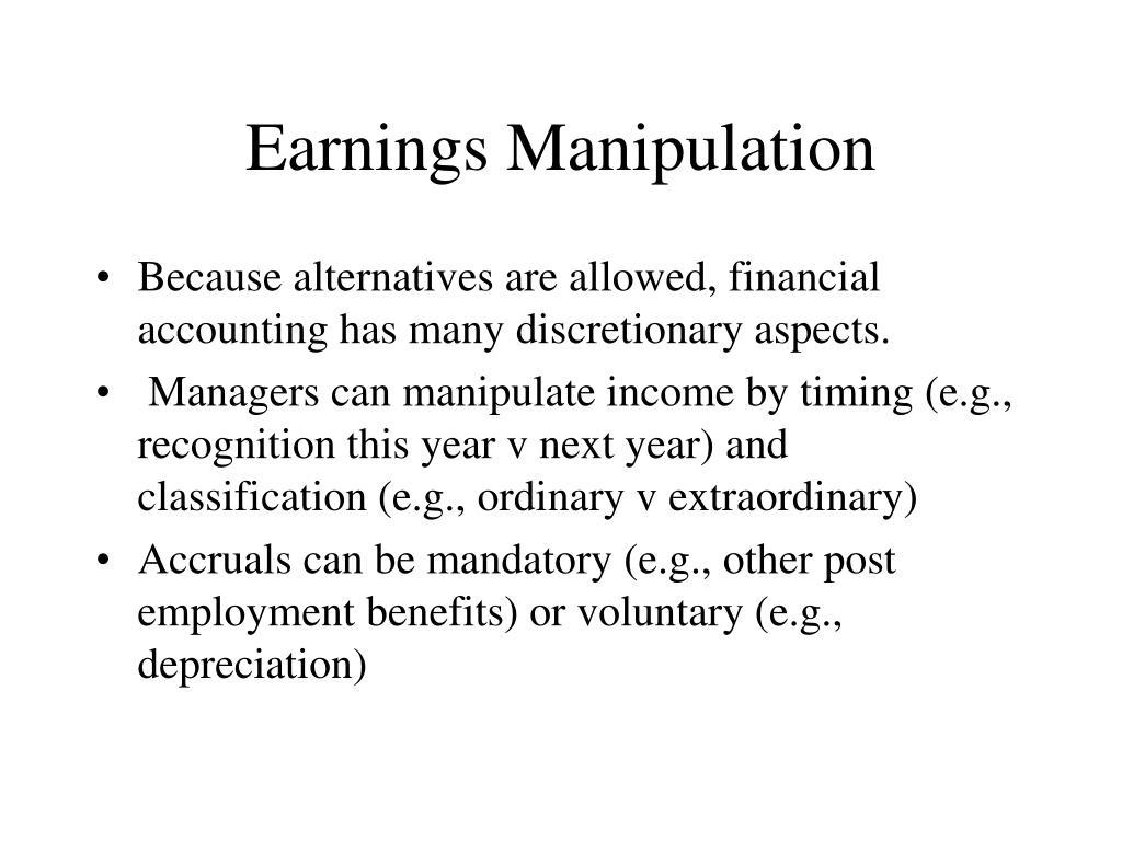 Earnings Manipulation