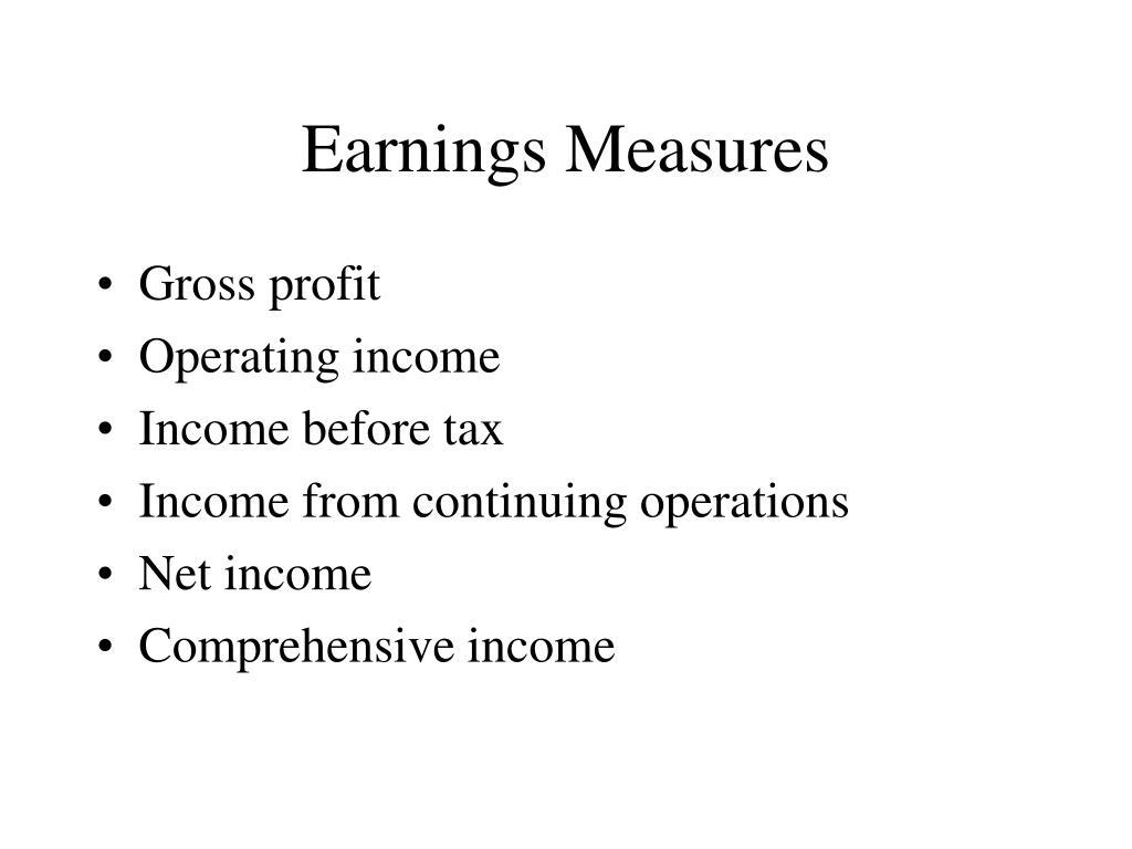 Earnings Measures