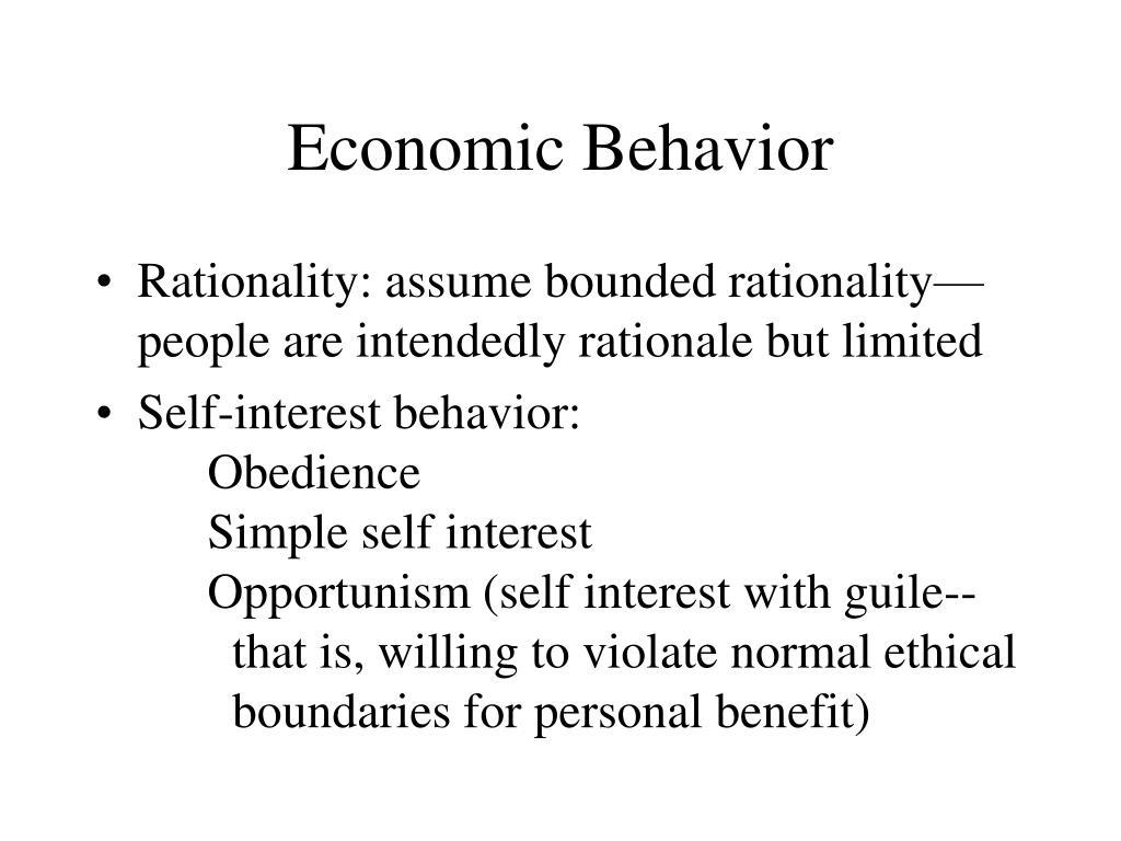 Economic Behavior