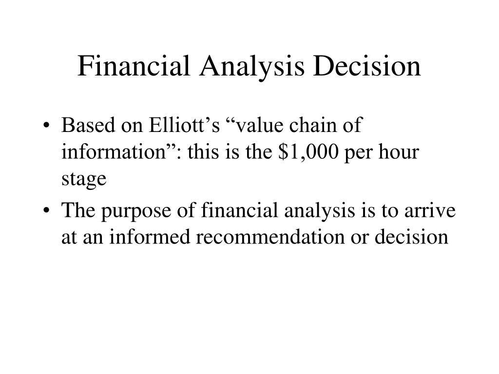 Financial Analysis Decision