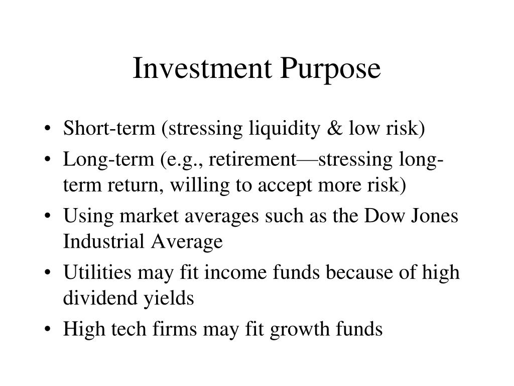 Investment Purpose