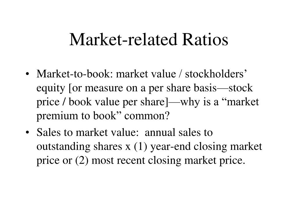 Market-related Ratios