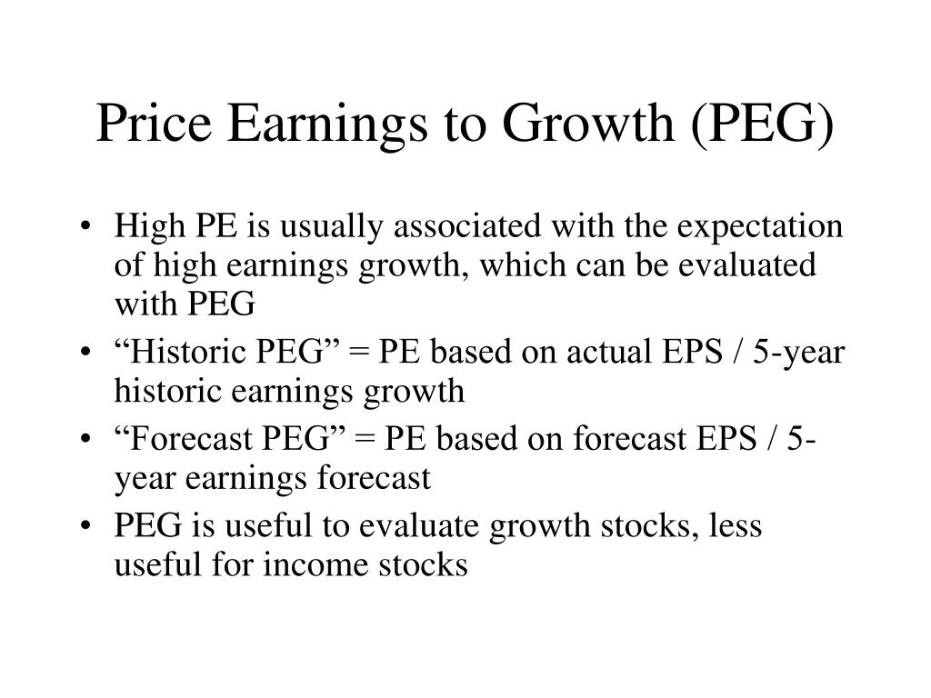 Price Earnings to Growth (PEG)