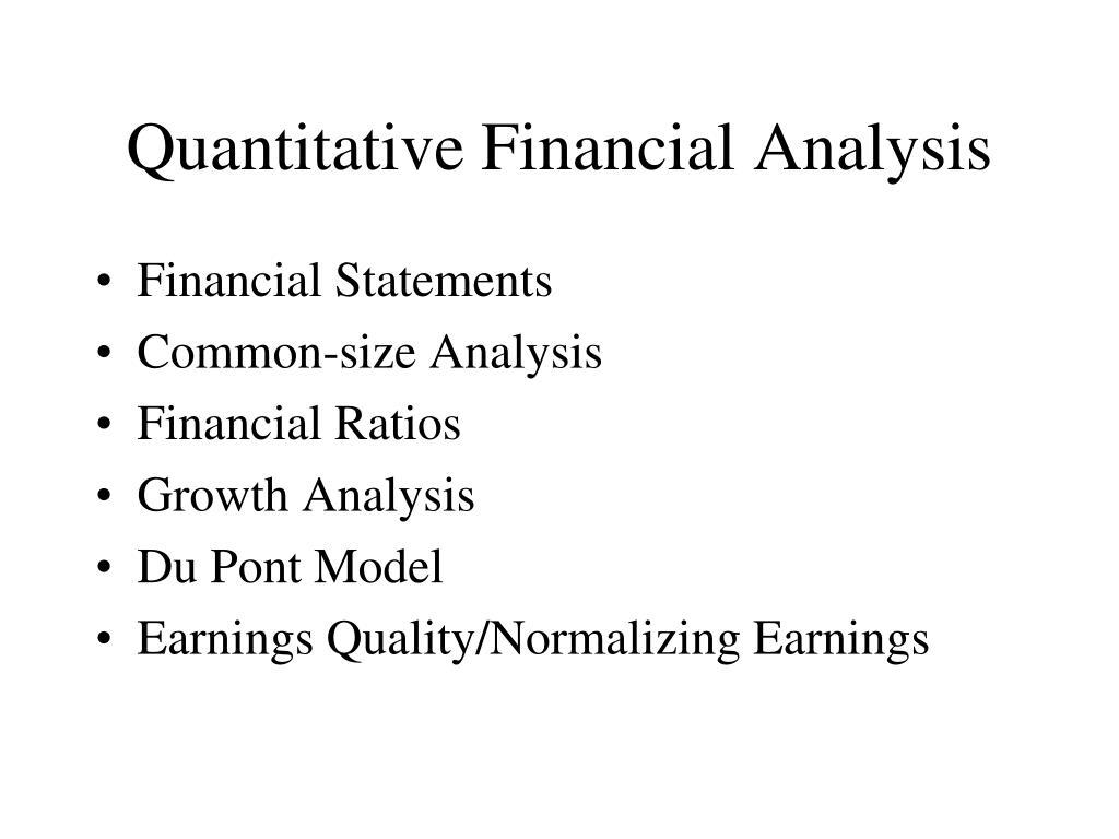 Quantitative Financial Analysis
