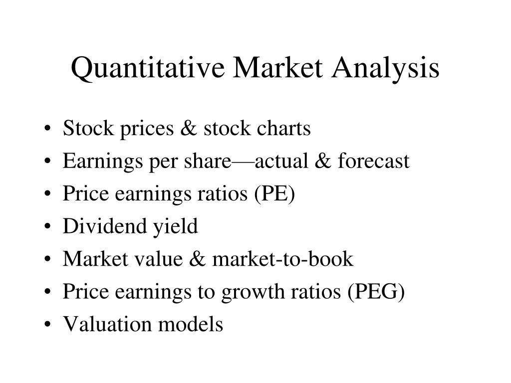 Quantitative Market Analysis