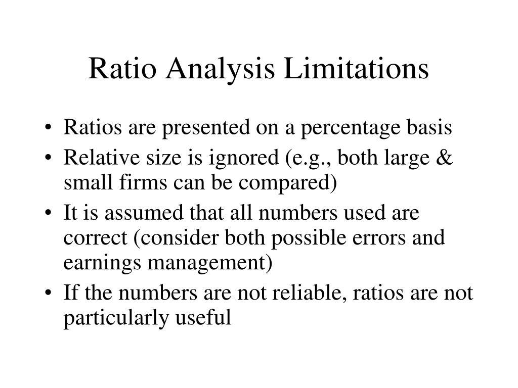 Ratio Analysis Limitations