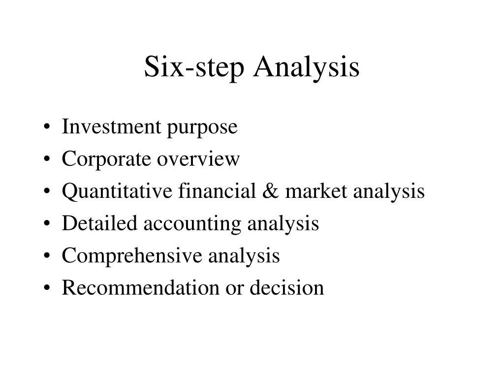 Six-step Analysis