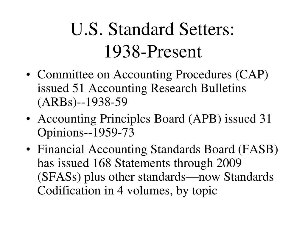 U.S. Standard Setters: