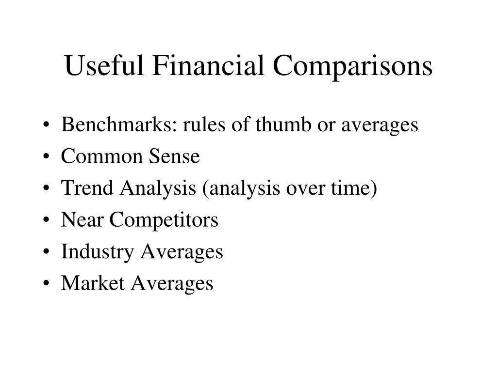 Useful Financial Comparisons