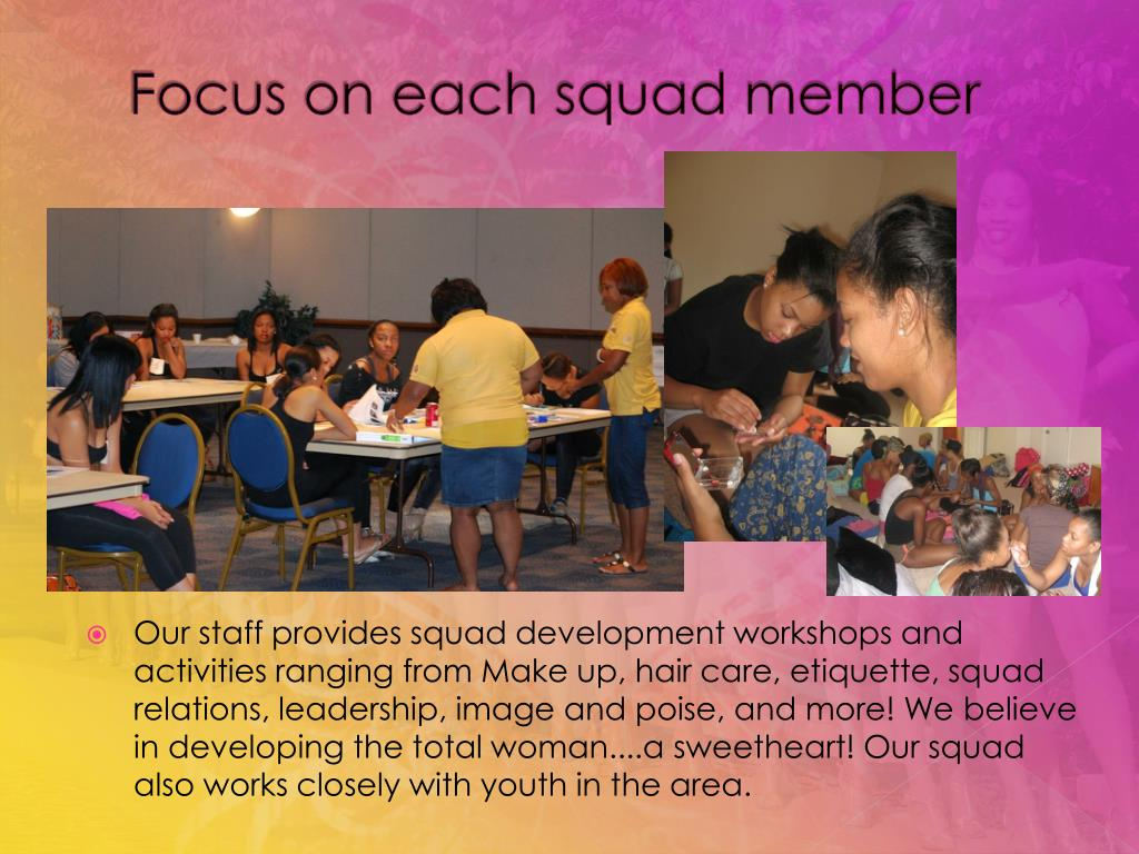 Focus on each squad member
