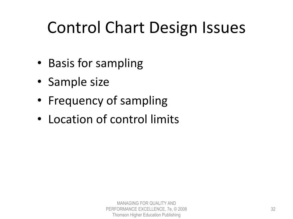 Control Chart Design Issues