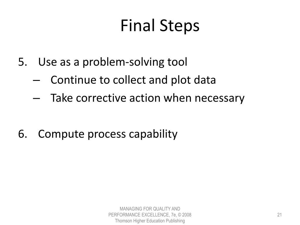 Final Steps