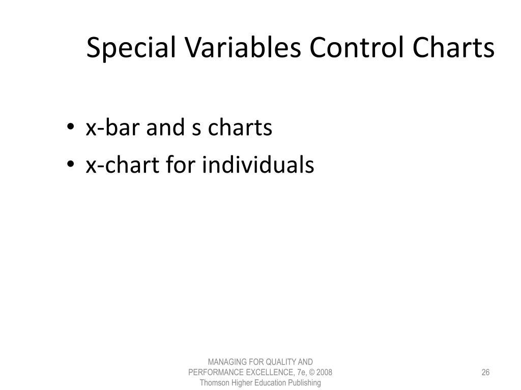 Special Variables Control Charts