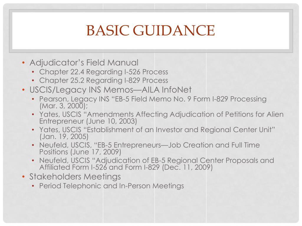 BASIC GUIDANCE