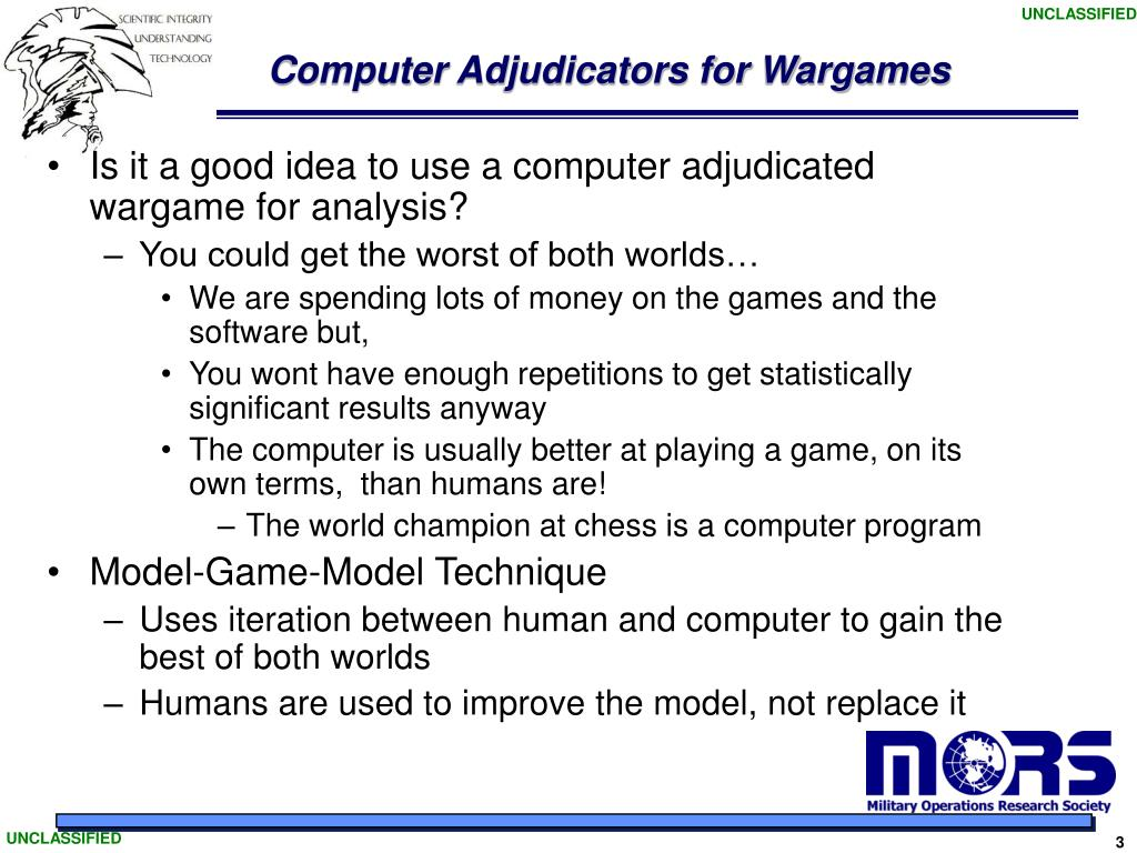 Computer Adjudicators for Wargames