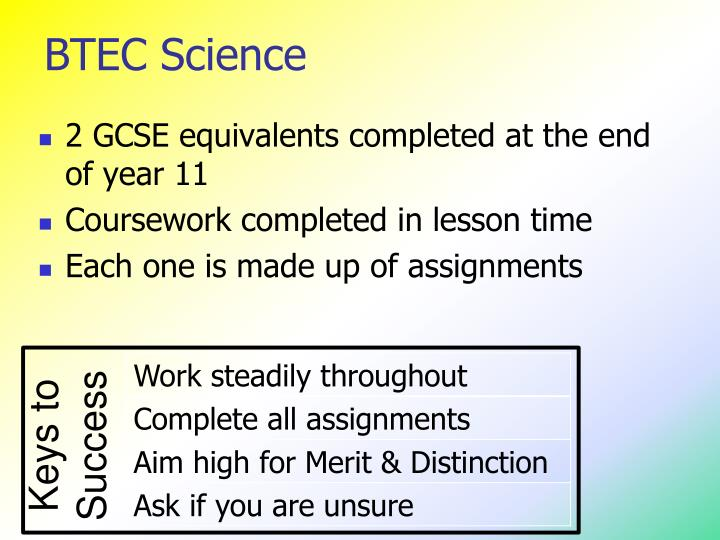 BTEC Science
