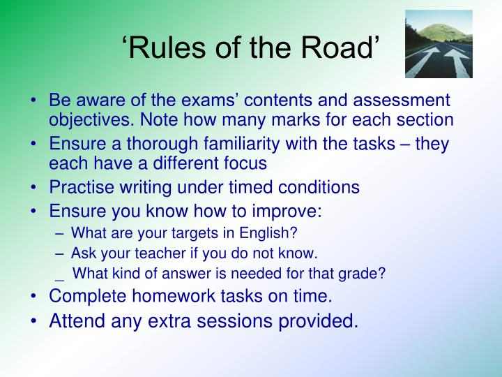 'Rules of the Road'