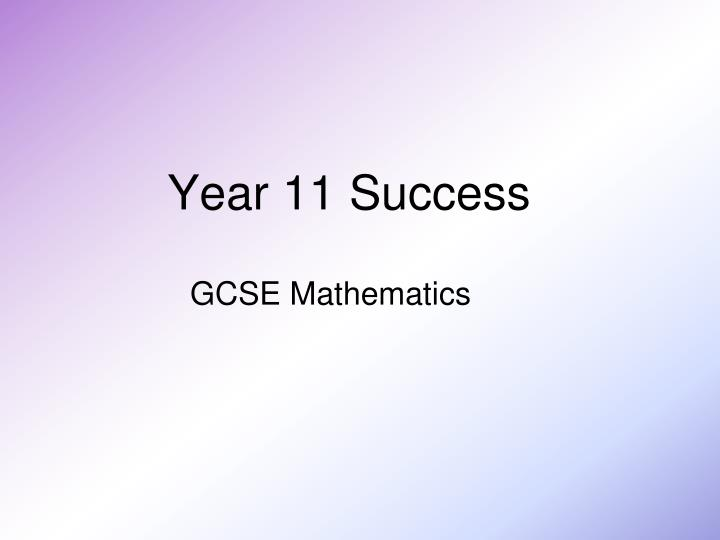 Year 11 Success