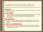 application package phases