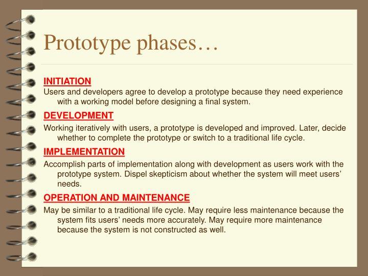 Prototype phases…