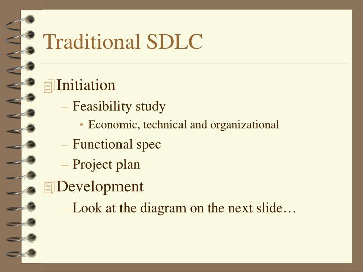 Traditional SDLC