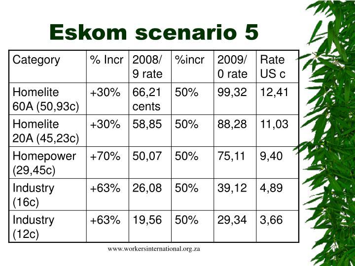 Eskom scenario 5