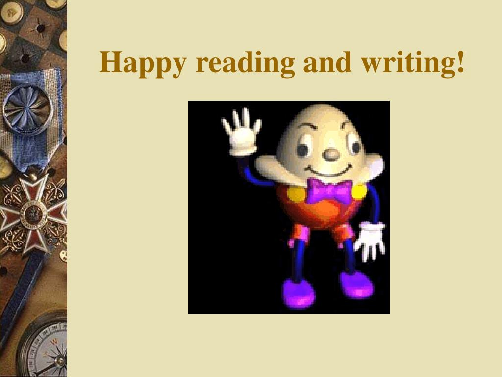 Happy reading and writing!