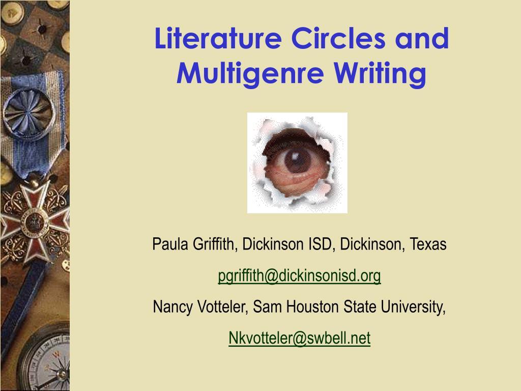 Literature Circles and Multigenre Writing