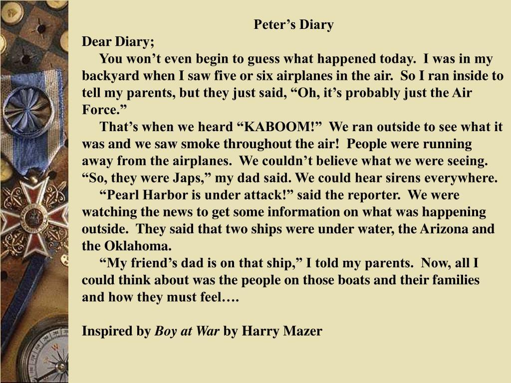 Peter's Diary