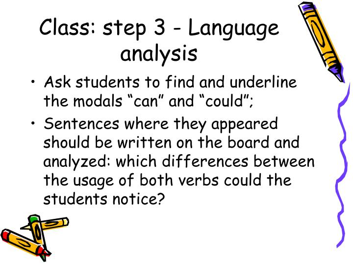 Class: step 3 - Language analysis