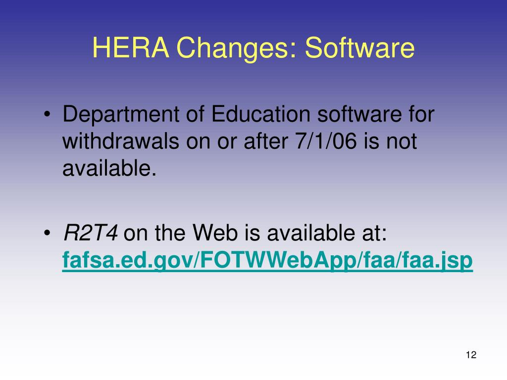 HERA Changes: Software
