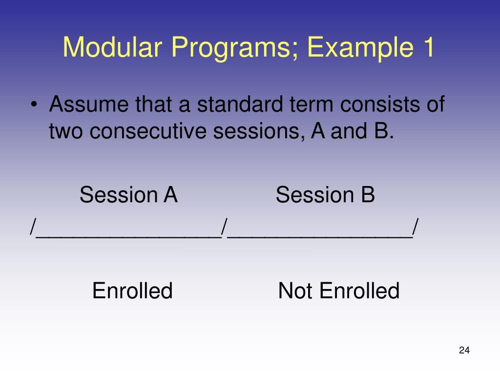 Modular Programs; Example 1