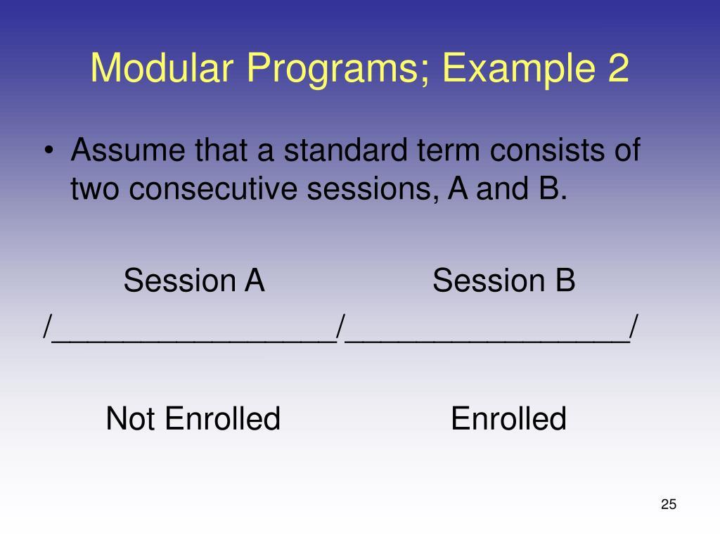 Modular Programs; Example 2