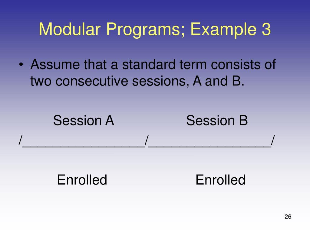 Modular Programs; Example 3