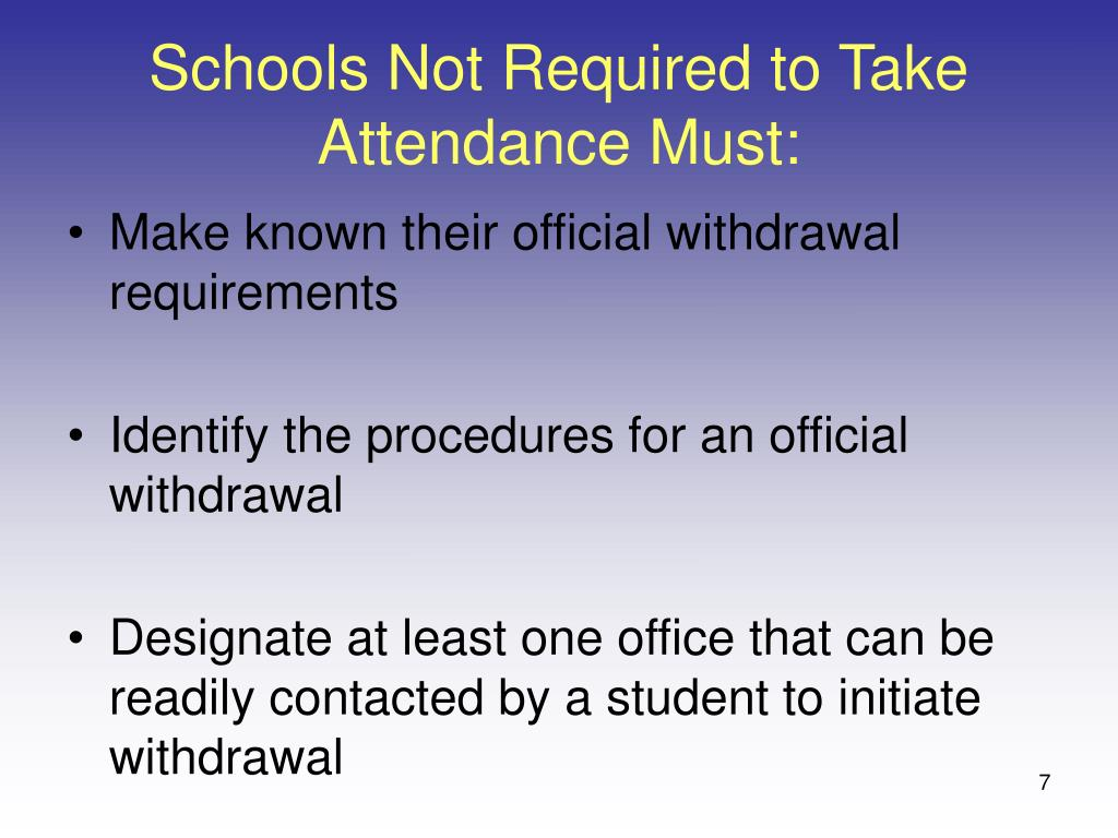 Schools Not Required to Take