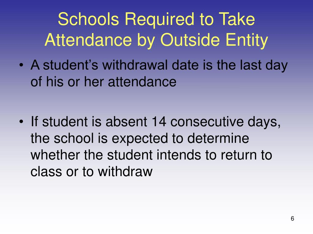 Schools Required to Take