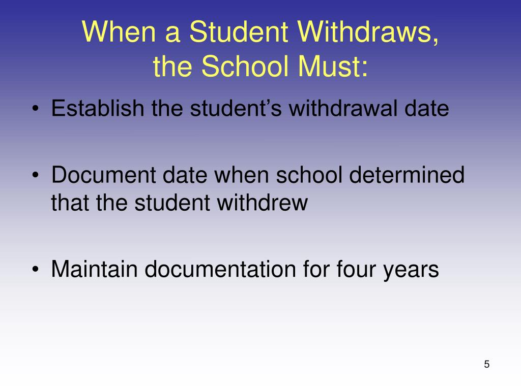 When a Student Withdraws,