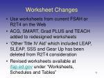 worksheet changes