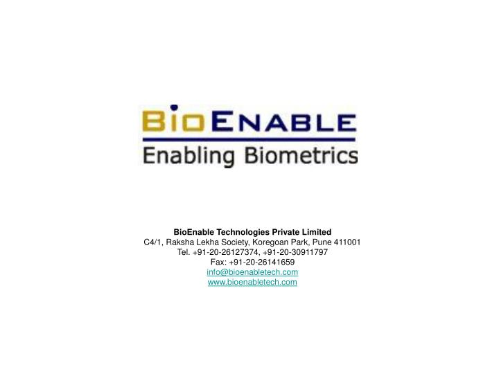 BioEnable Technologies Private Limited