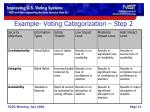 example voting categorization step 2