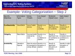 example voting categorization step 21