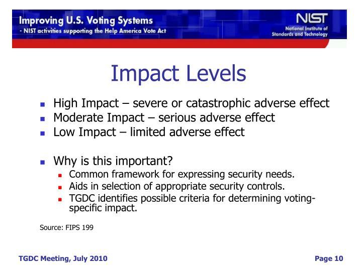 Impact Levels