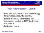 risk methodology tutorial