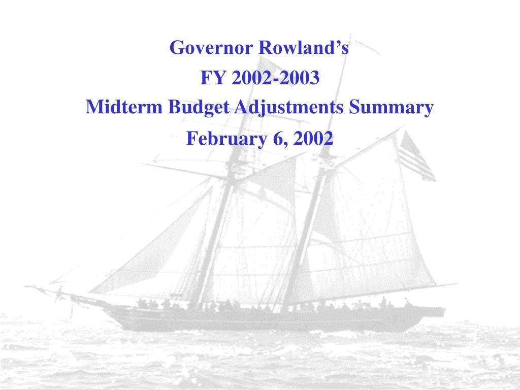 Midterm Budget Adjustments Summary