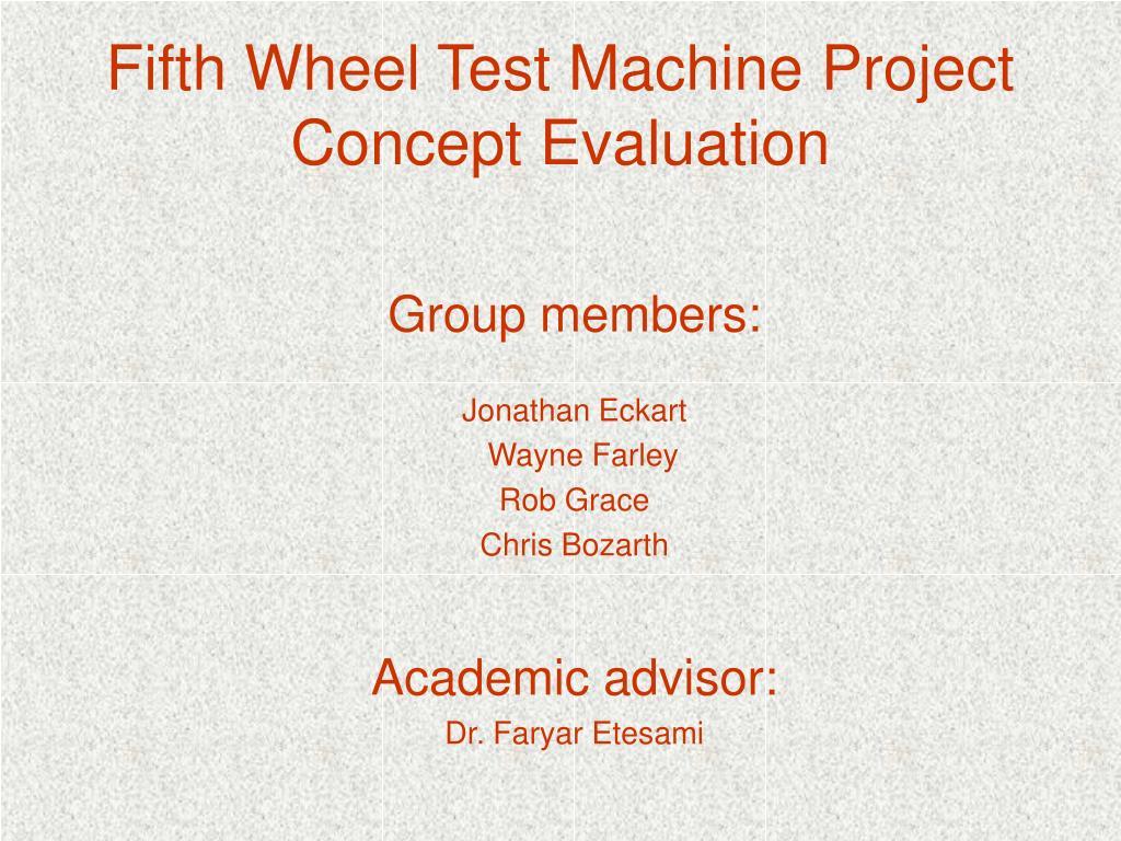 Fifth Wheel Test Machine Project