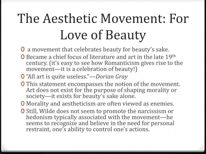 The Aesthetic Movement: For Love of Beauty