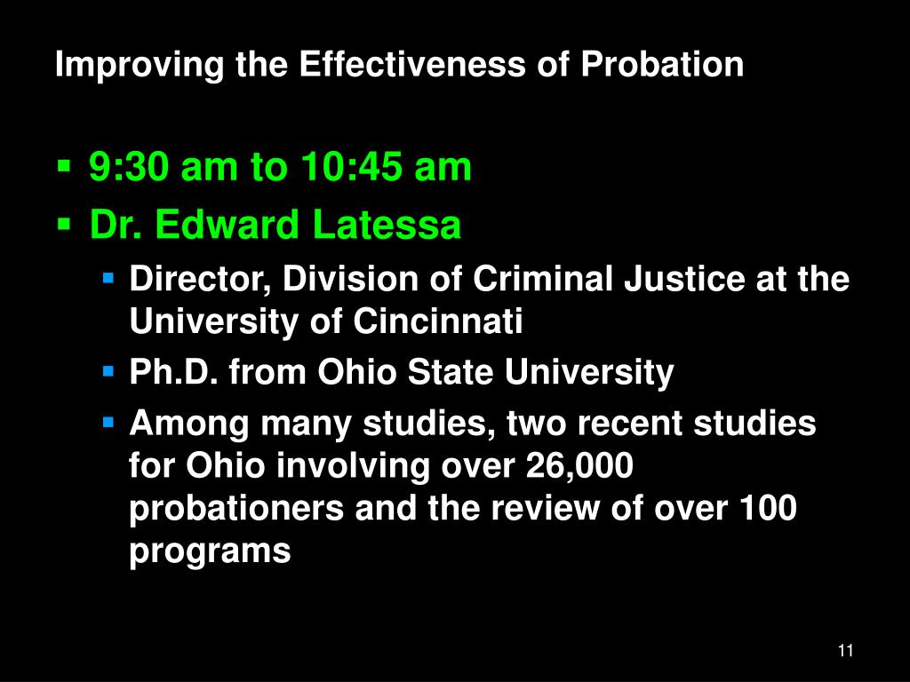 Improving the Effectiveness of Probation