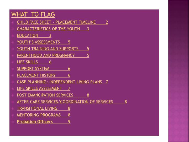 What  to flag