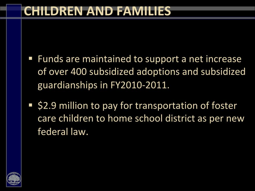 CHILDREN AND FAMILIES
