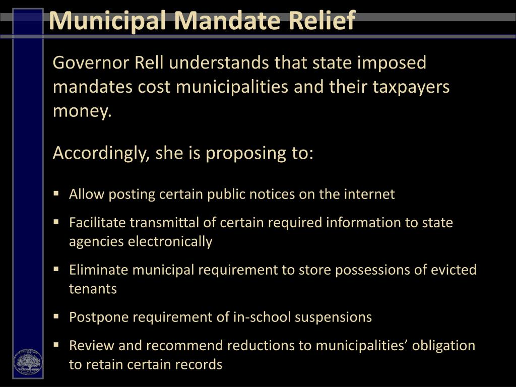 Municipal Mandate Relief